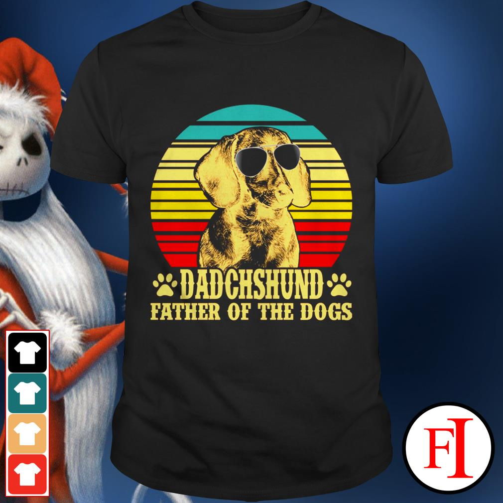 Dadchshund father of the dogs sunset IF shirt