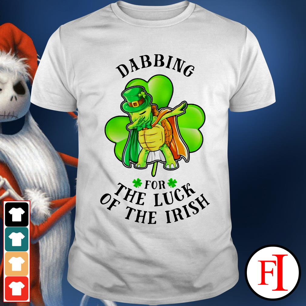 Green St Patrick's day turtle dabbing for the luck of the Irish IF shirt