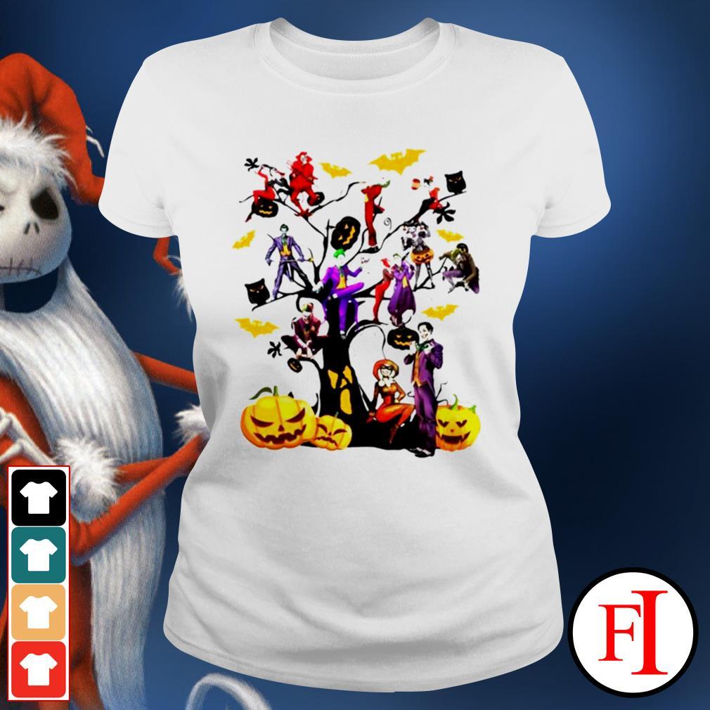 Halloween tree Joker and Harley IF Ladies tee
