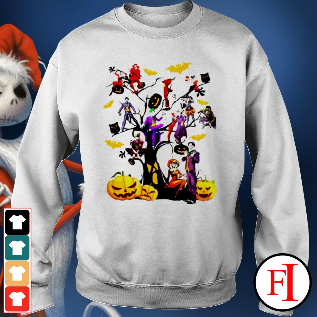 Halloween tree Joker and Harley IF Sweater