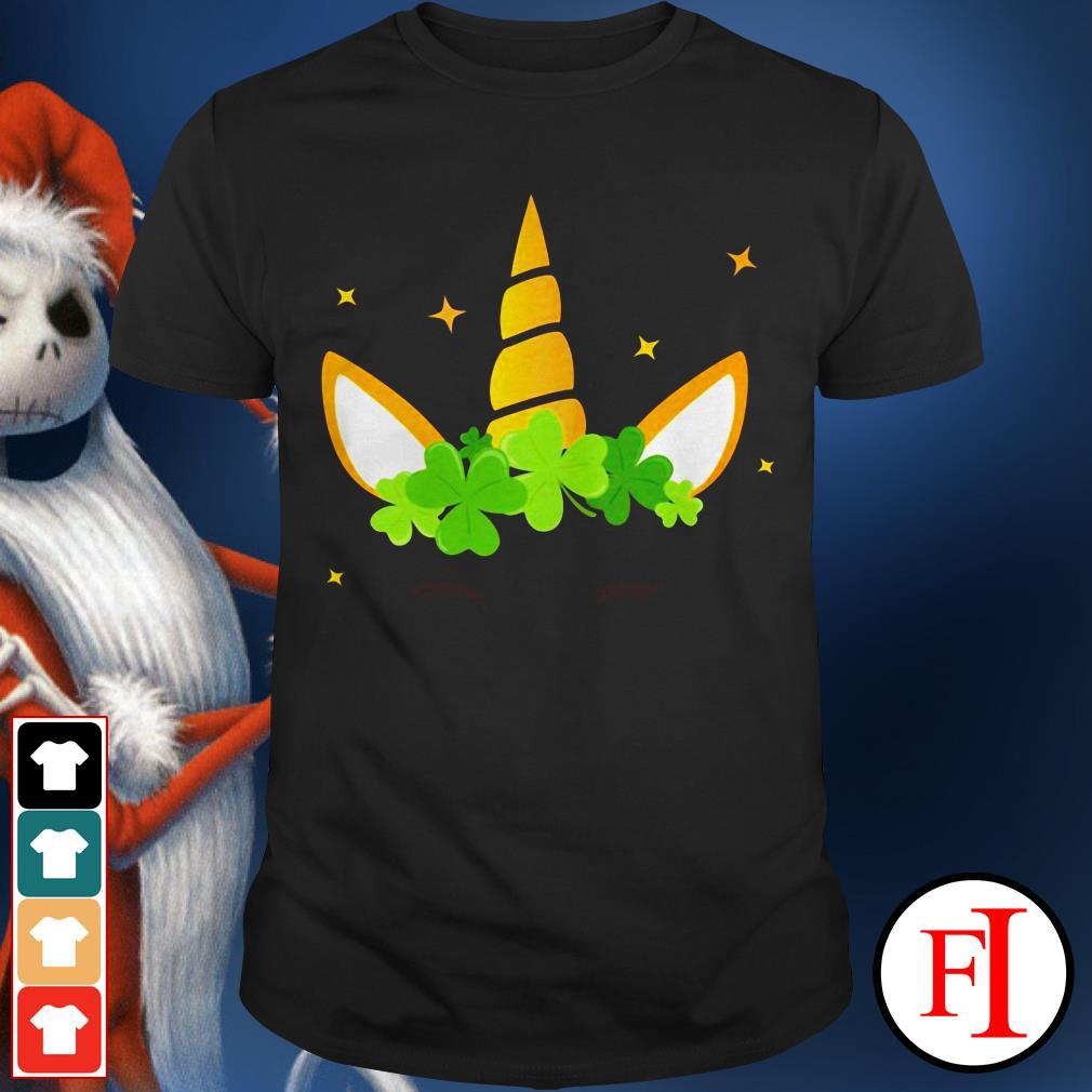 Lovely ST. Patrick's day clover unicorn IF shirt