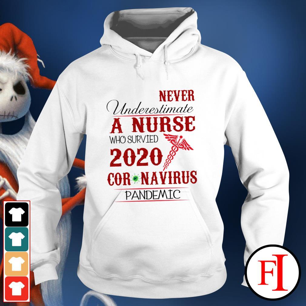 Never underestimate a nurse who survived 2020 Coronavirus pandemic like IF Hoodie