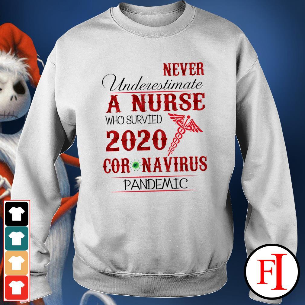 Never underestimate a nurse who survived 2020 Coronavirus pandemic like IF Sweater