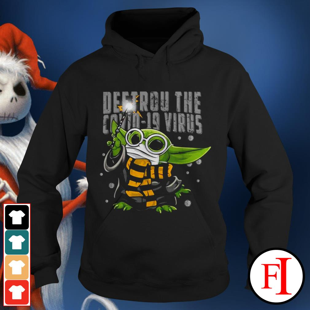Official Baby Yoda Destroy the Covid-19 Virus Corona IF Hoodie
