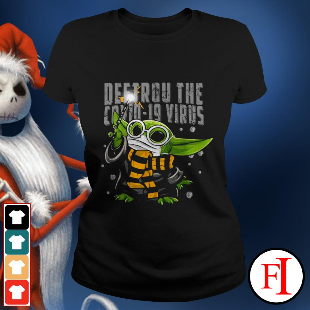 Official Baby Yoda Destroy the Covid-19 Virus Corona IF Ladies tee