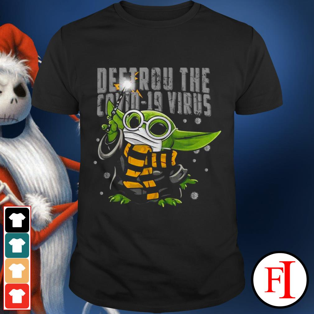 Official Baby Yoda Destroy the Covid-19 Virus Corona IF shirt