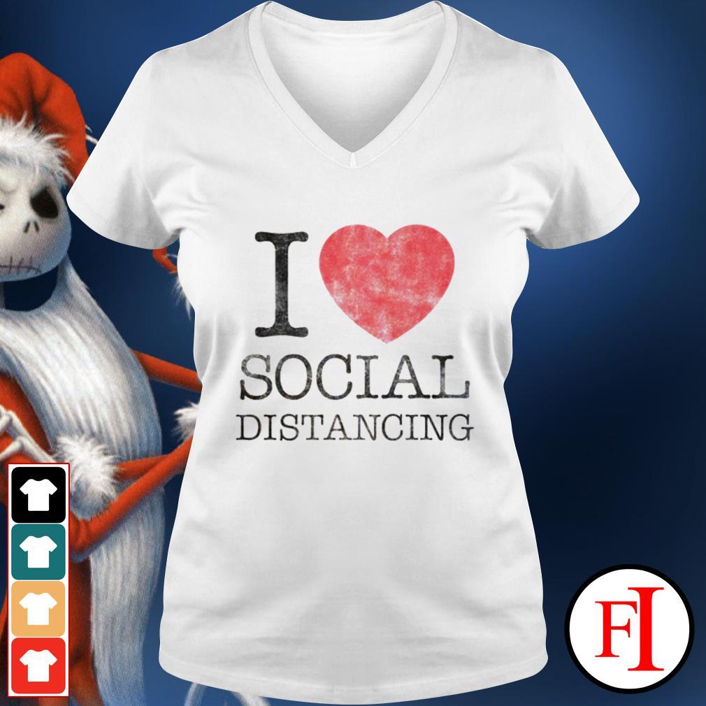 Official I love social distancing IF V-neck t-shirt