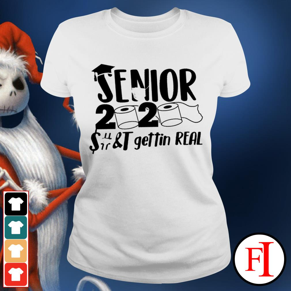 Official Senior 2020 toilet paper class of 2020 IF Ladies tee