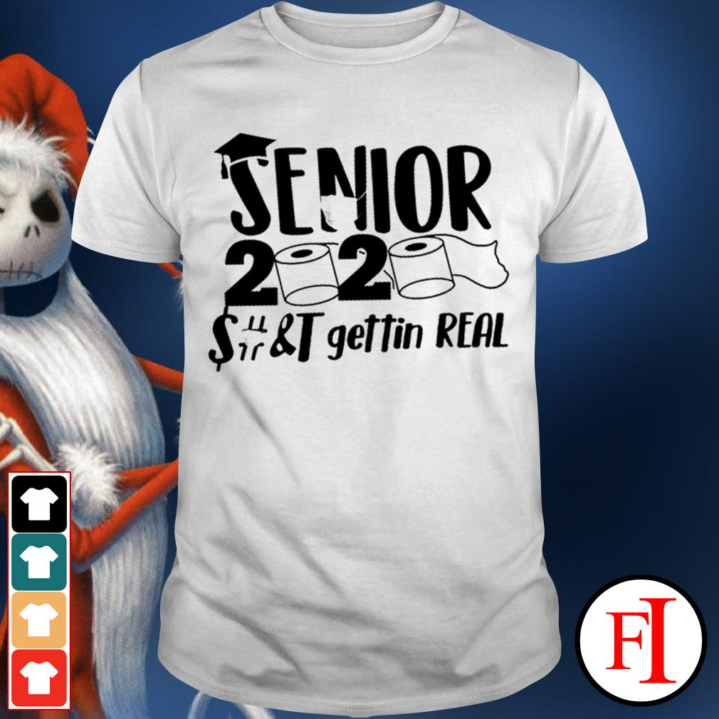 Official Senior 2020 toilet paper class of 2020 IF shirt