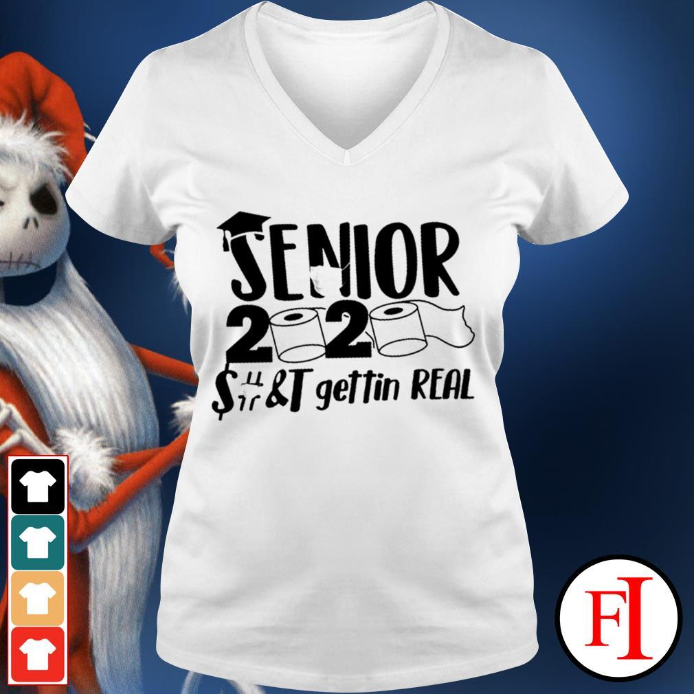 Official Senior 2020 toilet paper class of 2020 IF V-neck t-shirt