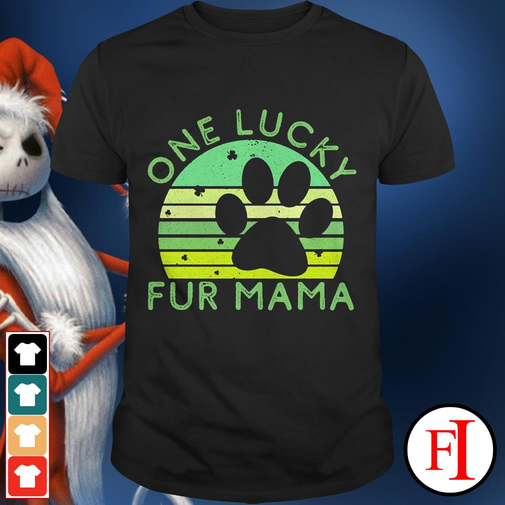 One lucky fur Mama sunset St. Patrick's Day shirt