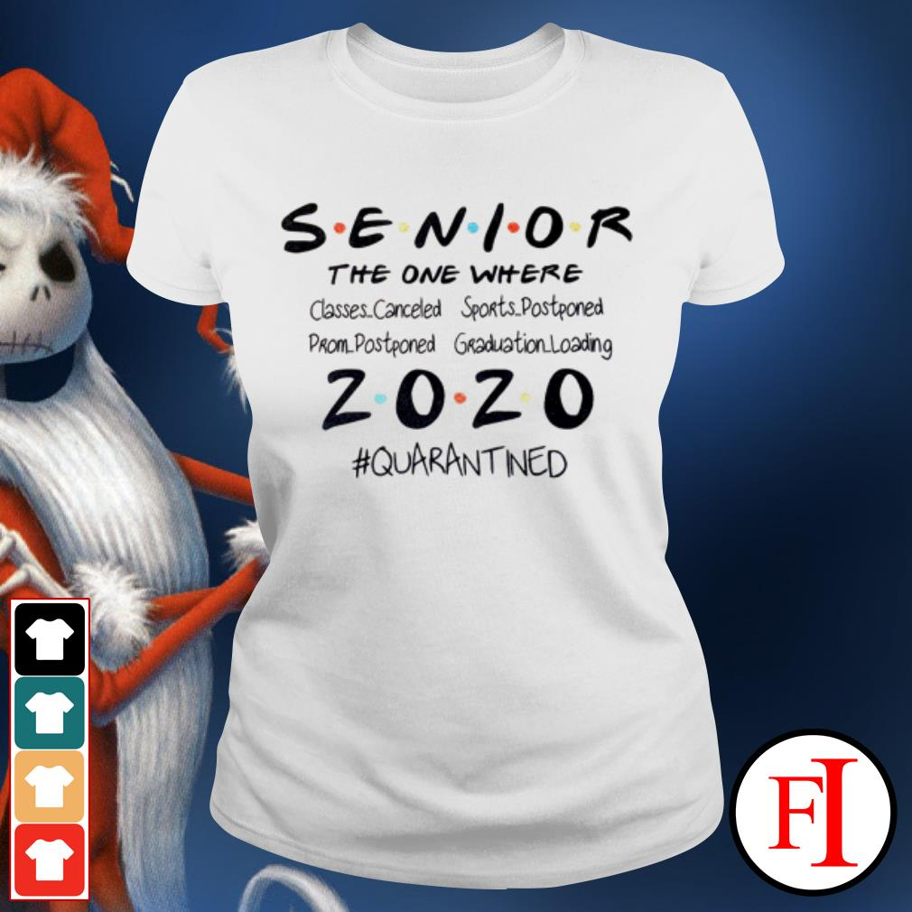 Seniors the one where they were 2020 quarantined IF Ladies tee