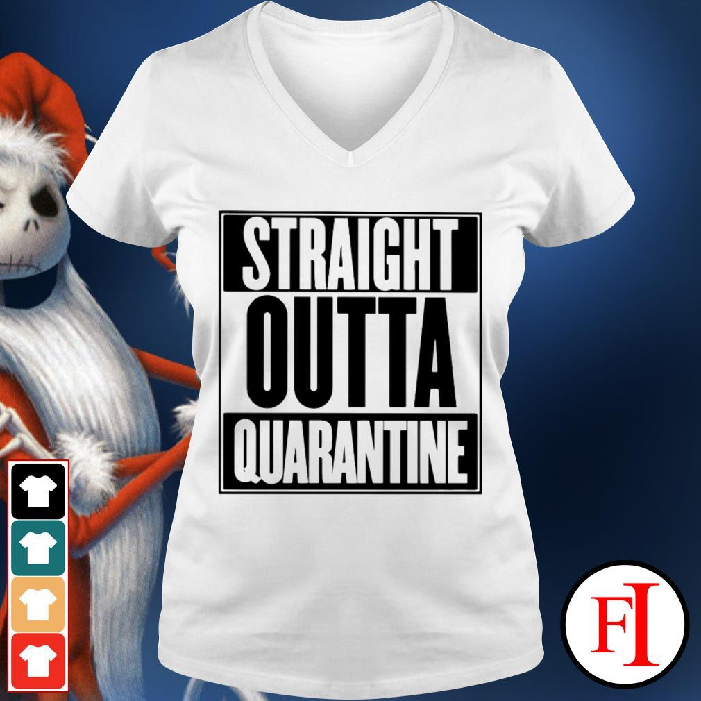 Straight outta quarantine love IF V-neck t-shirt