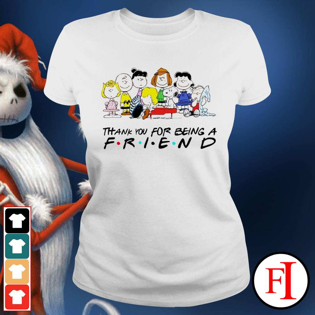 Thank you for being a friend Snoopy Charlie Brown and Friends Peanuts love IF Ladies tee
