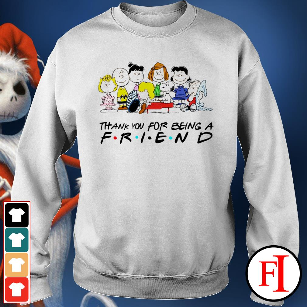 Thank you for being a friend Snoopy Charlie Brown and Friends Peanuts love IF Sweater