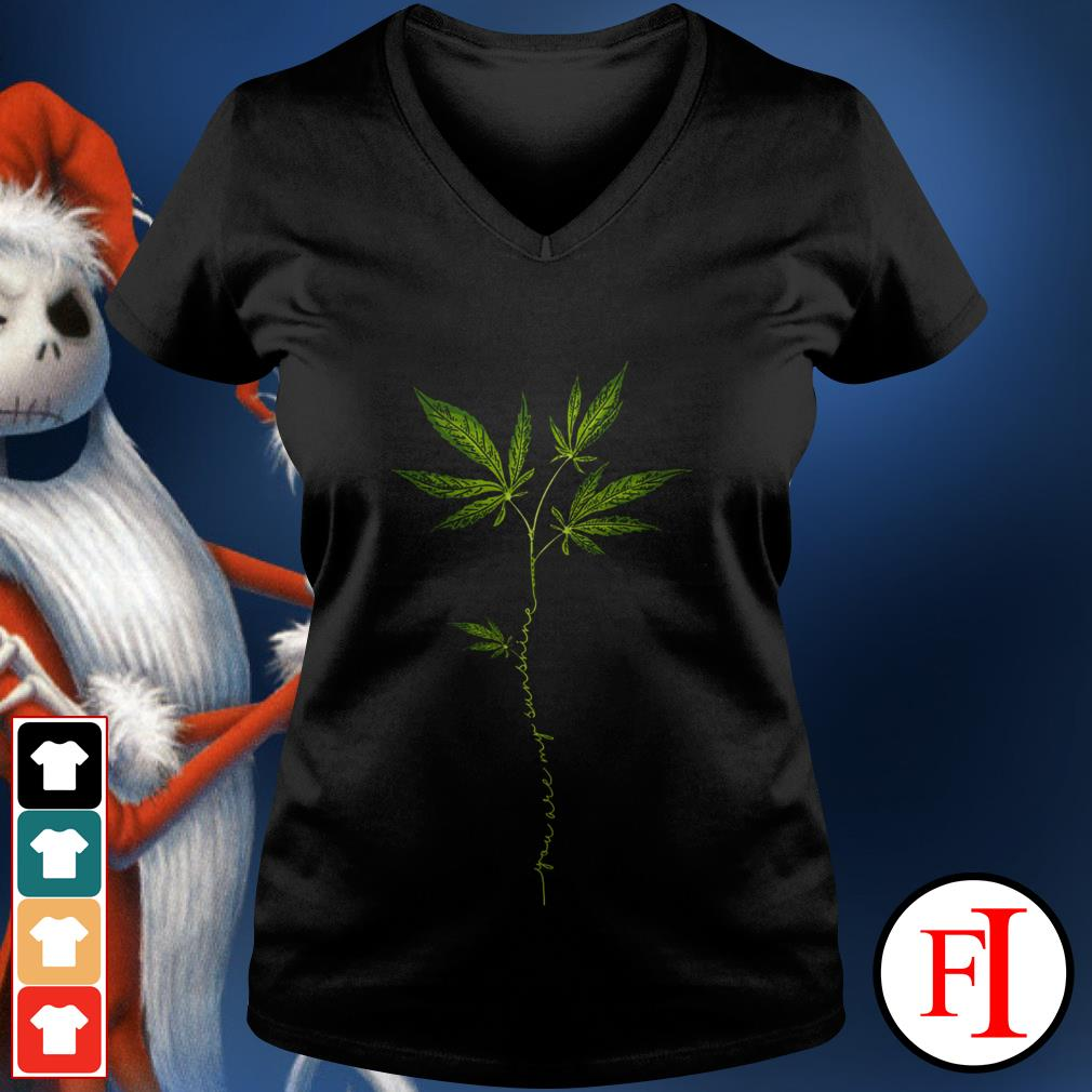 Weed you are my sunshine love IF V-neck t-shirt