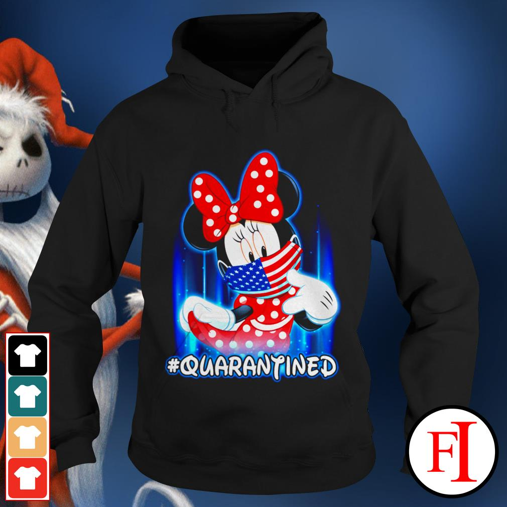 American #quarantined Covid-19 Minnie Mouse face mask Hoodie