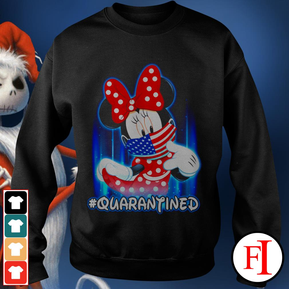 American #quarantined Covid-19 Minnie Mouse face mask Sweater