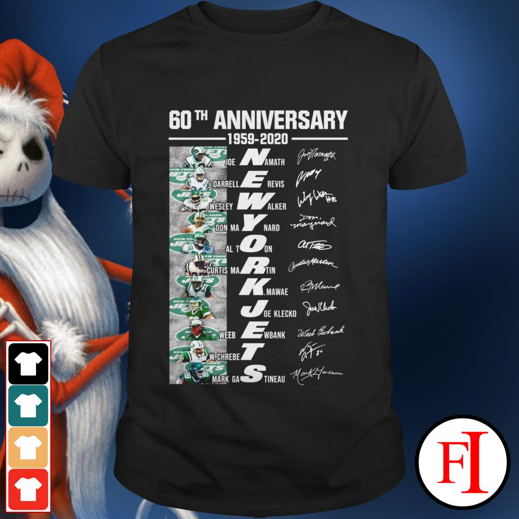 Anniversary 1959-2020 60th New York Jets all members signatures shirt