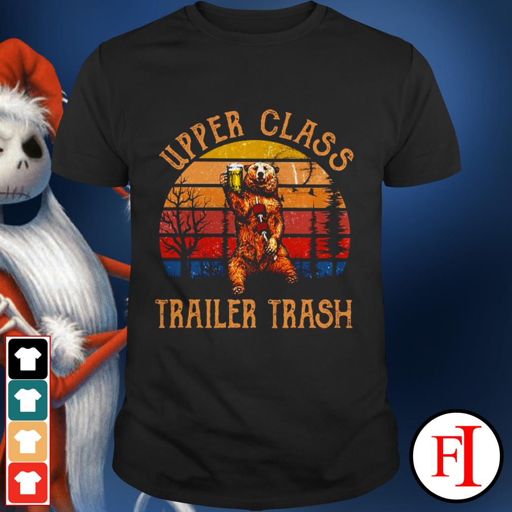 Best Bear beer upper class trailer trash sunset shirt