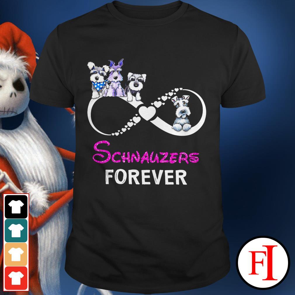 Best black Infinity love Schnauzers forever shirt