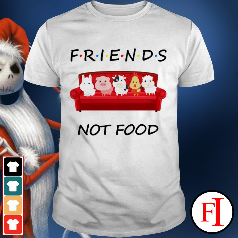 Best White Animal Friends not food shirt