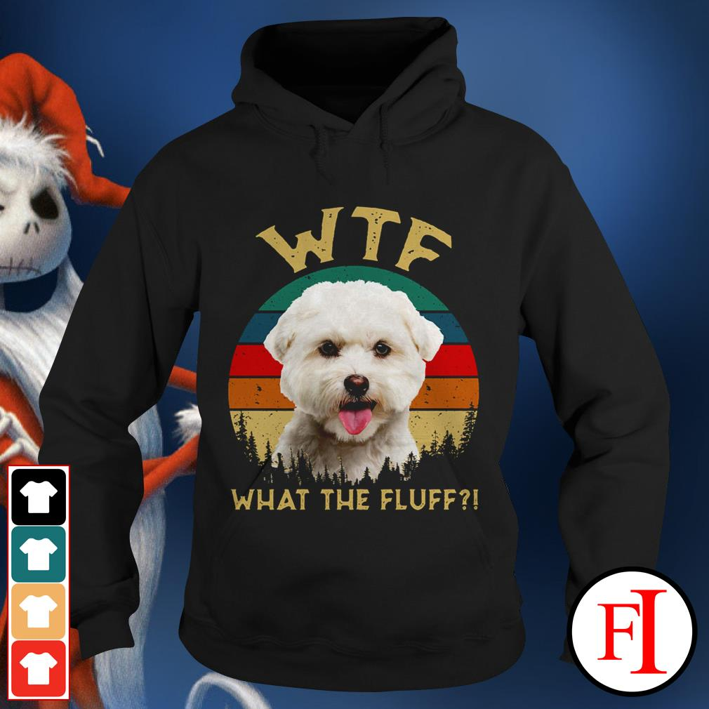 Bichon Frise what the fluff sunset love IF Hoodie