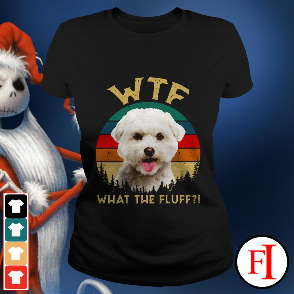 Bichon Frise what the fluff sunset love IF Ladies tee