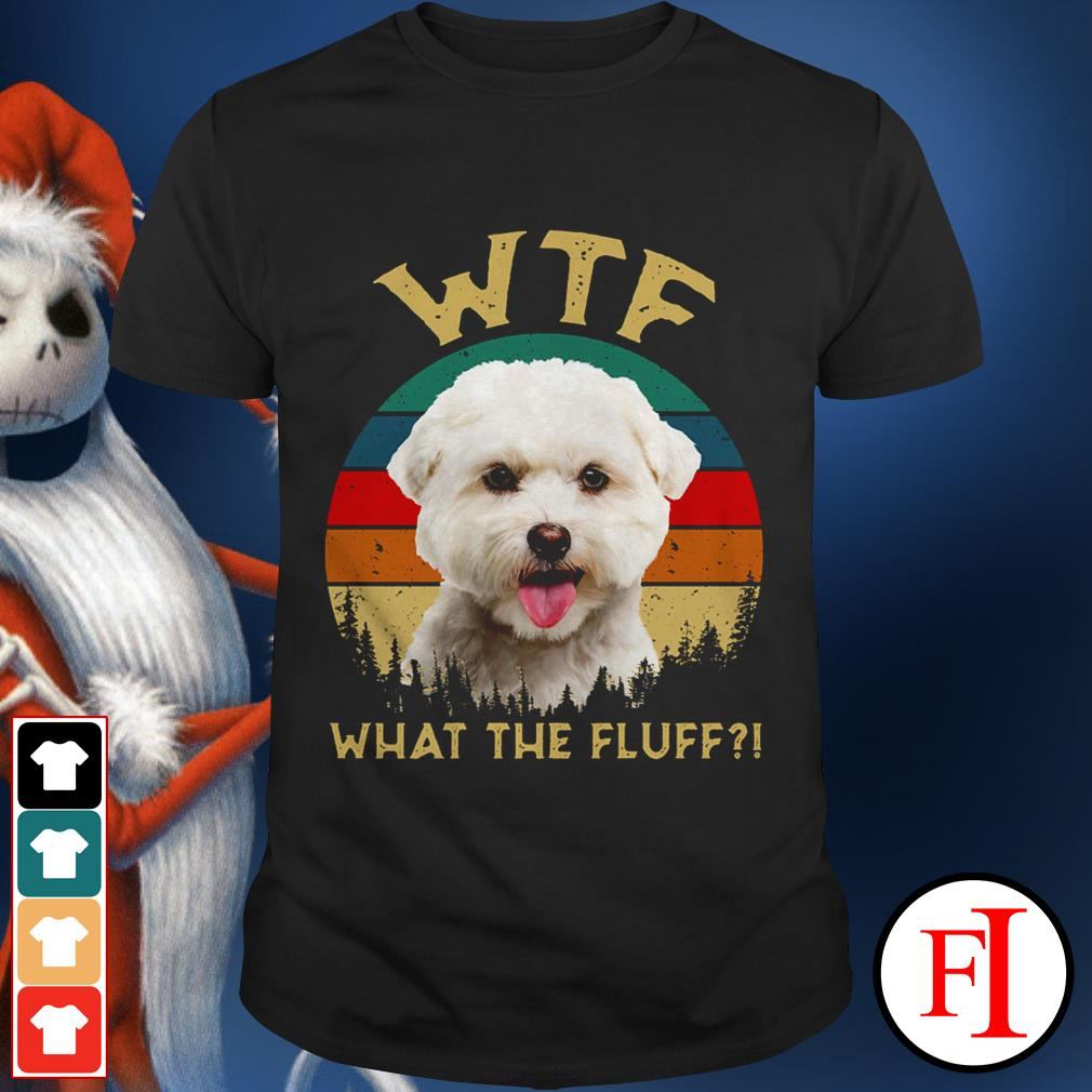 Bichon Frise what the fluff sunset love IF shirt
