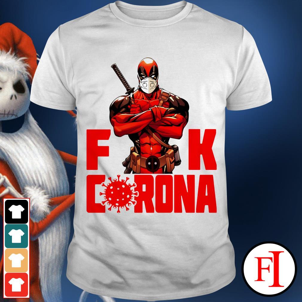 Black Deadpool fuck Corona red love IF shirt