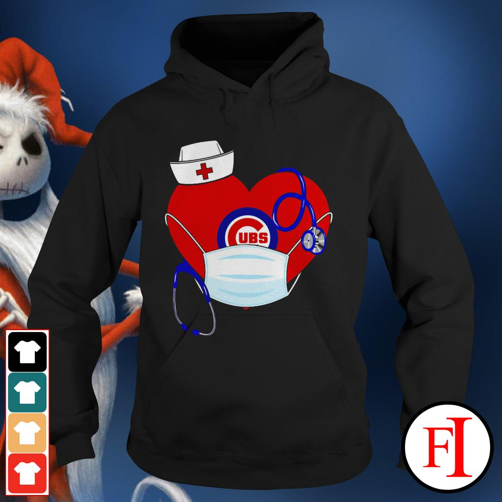 Chicago stethoscope nurse good heart face mask love IF Hoodie