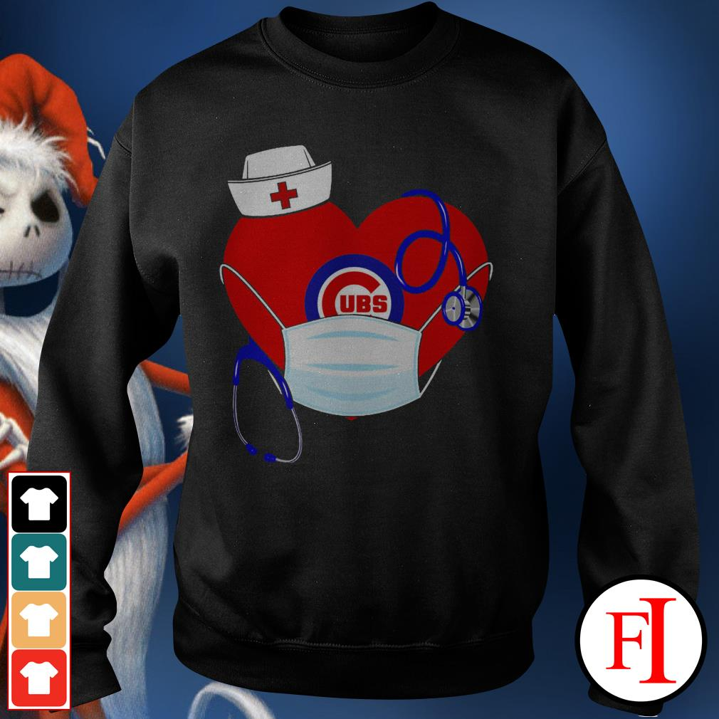 Chicago stethoscope nurse good heart face mask love IF Sweater