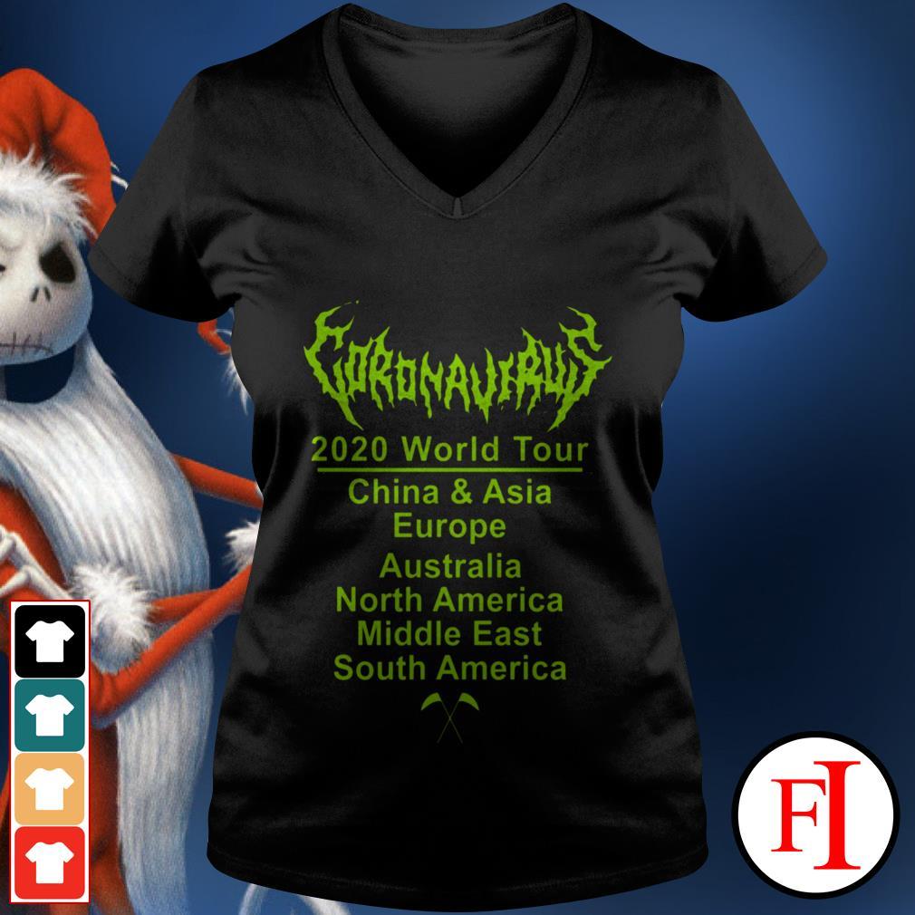 Corona 2020 World tour love IF V-neck t-shirt