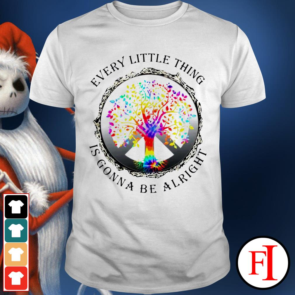Hippie tree every little thing is gonna be alright black shirt