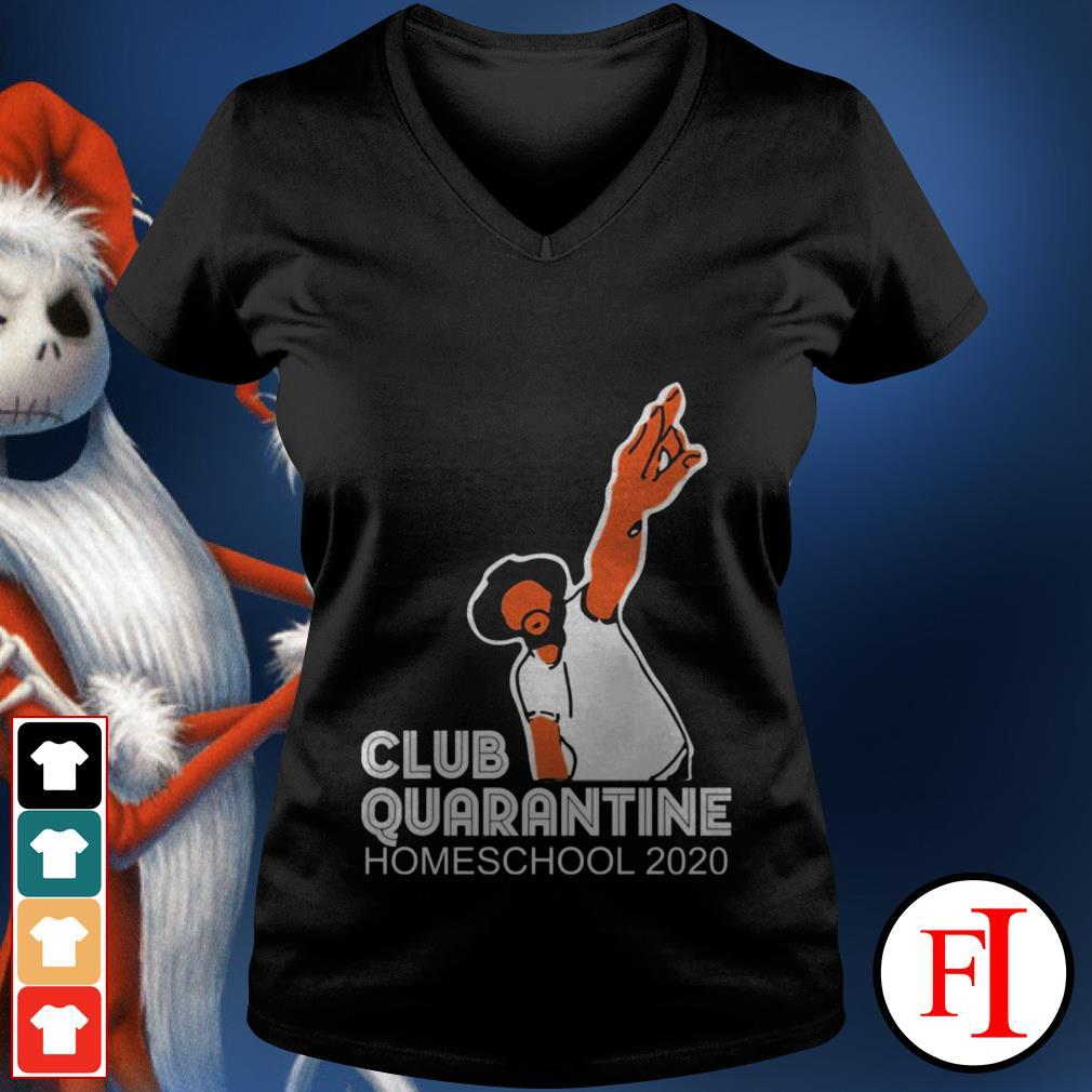 Homeschool 2020 Club quarantine V-neck t-shirt
