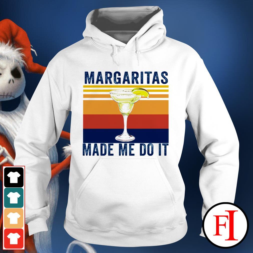Margaritas made me do it sunset best black Hoodie
