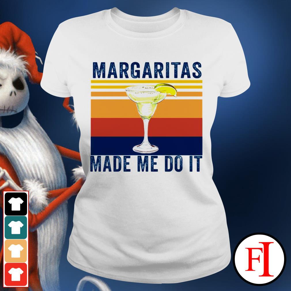 Margaritas made me do it sunset best black Ladies tee