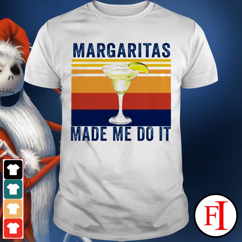 Margaritas made me do it sunset best black shirt
