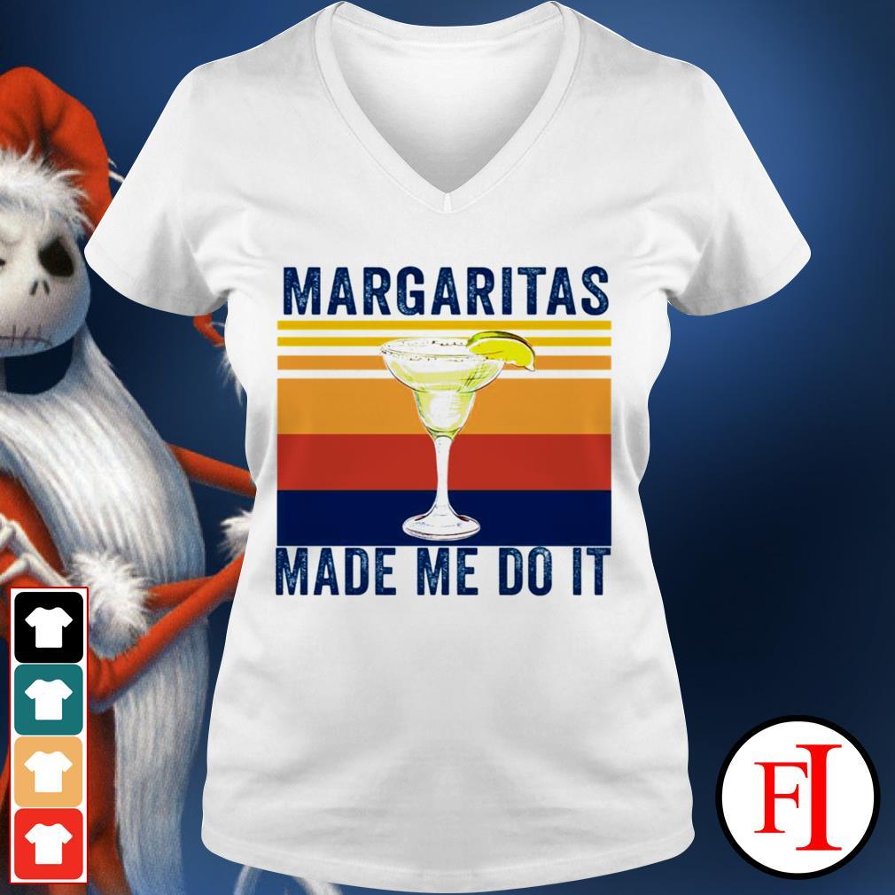 Margaritas made me do it sunset best black V-neck t-shirt
