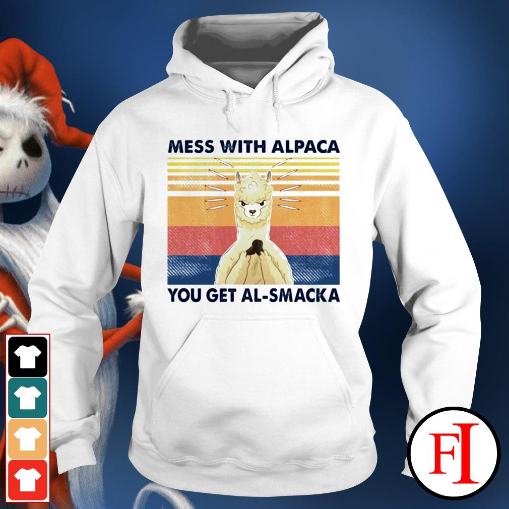 Mess with alpaca you get al-smacka sunset black Hoodie