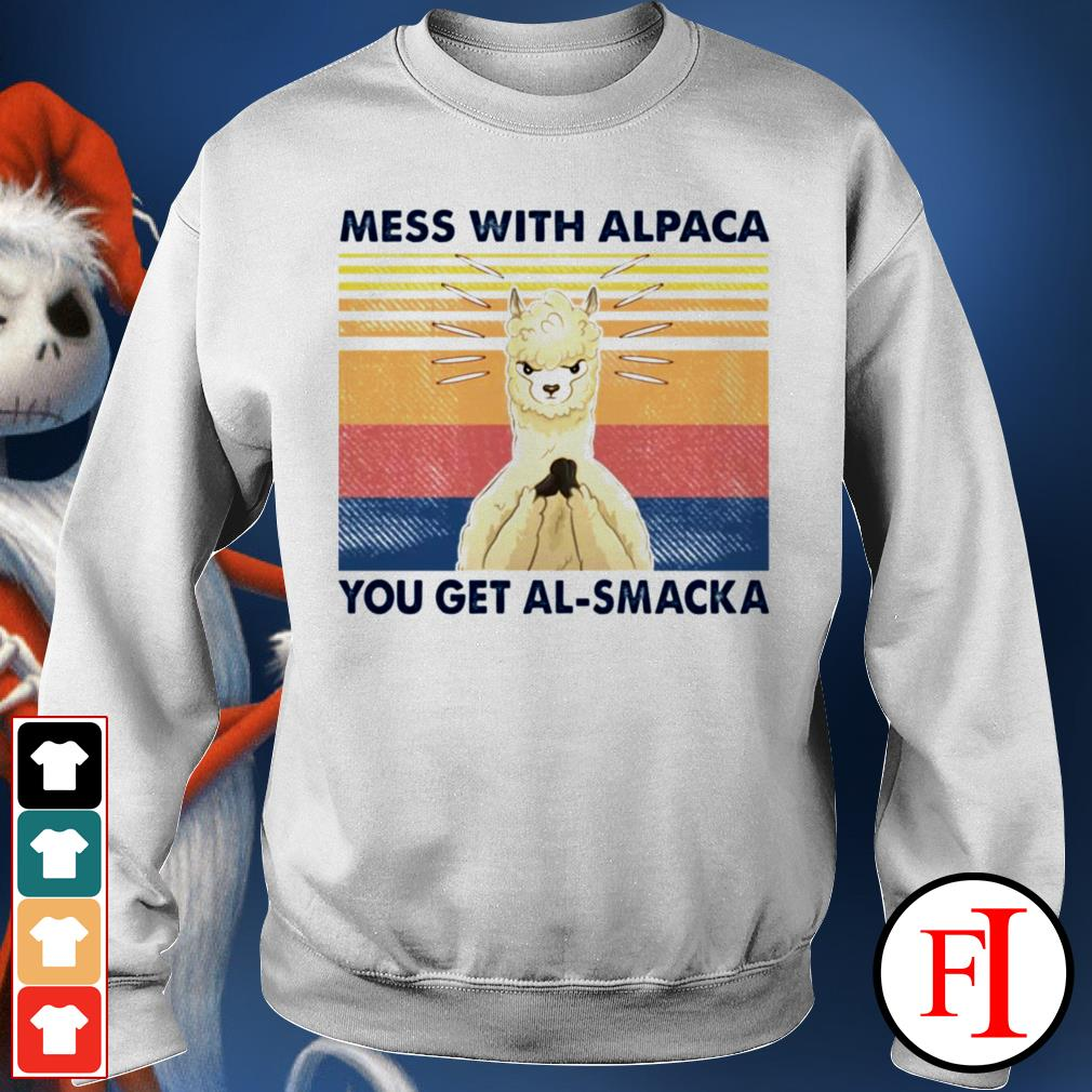 Mess with alpaca you get al-smacka sunset black Sweater