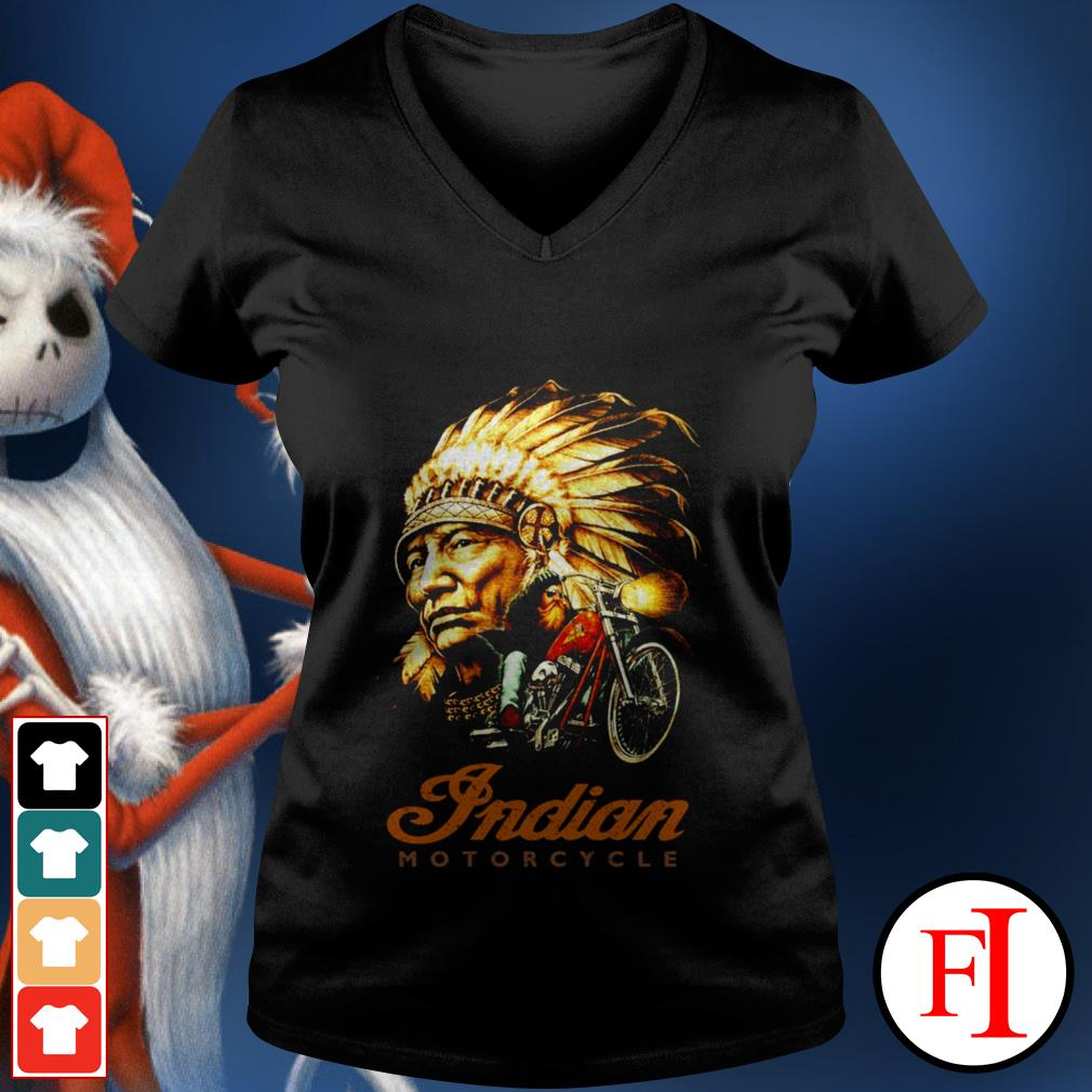 Official Native Indian motorcycle V-neck t-shirt