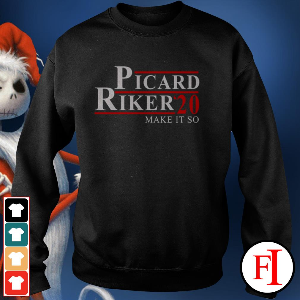 Official Picard Riker'20 make it so love IF Sweater