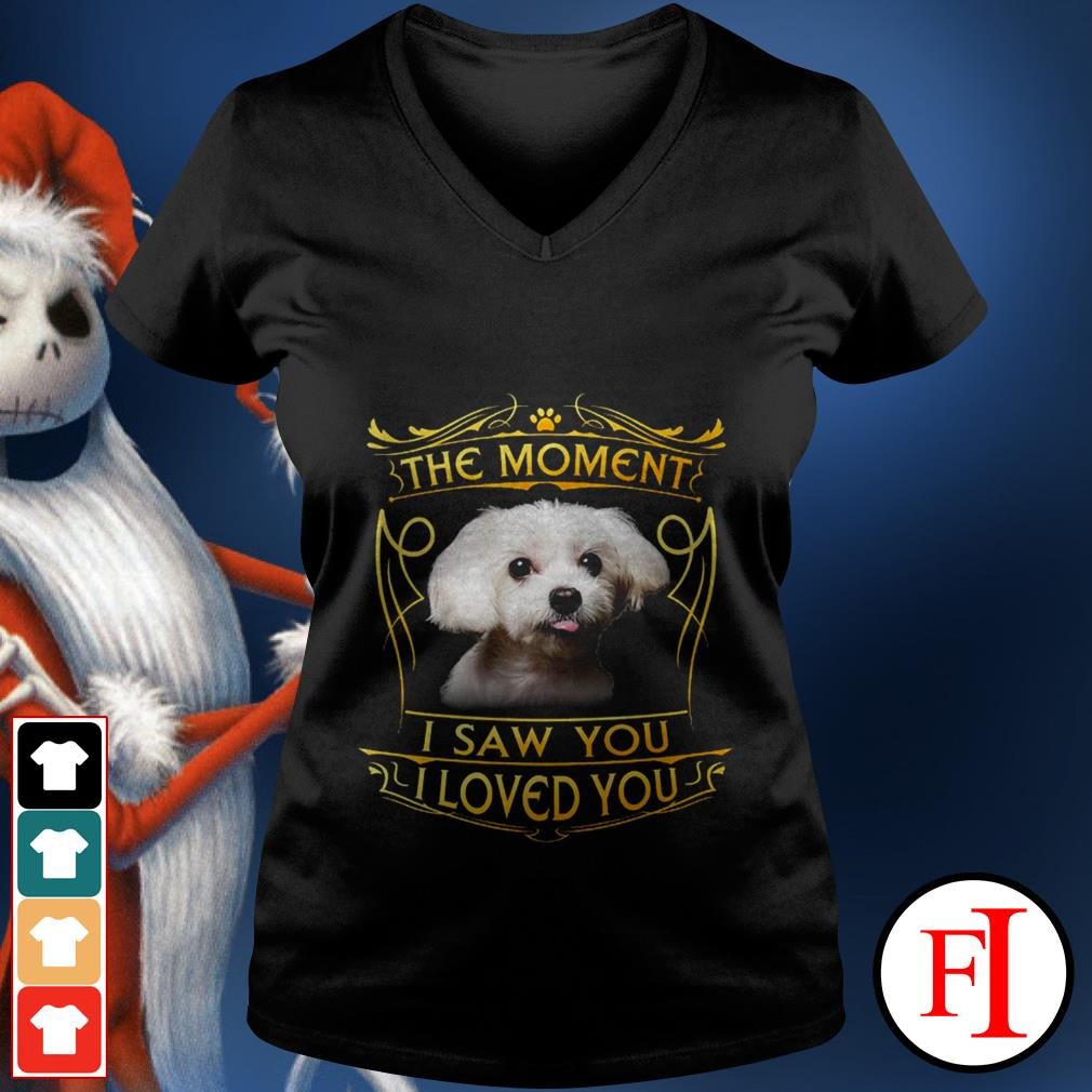 Official Terrier Havanese the moment I saw you I loved you IF V-neck t-shirt