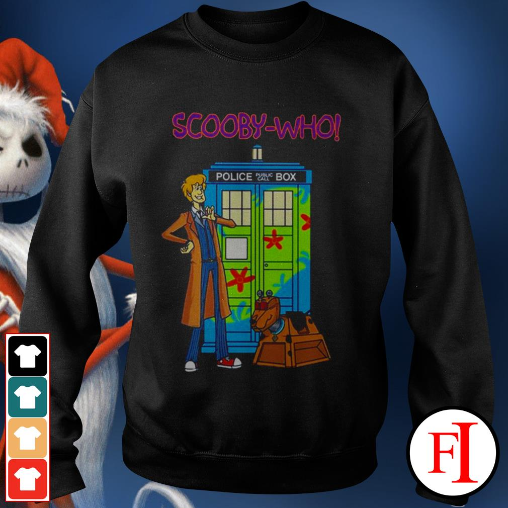 Police public call box Scooby-Who best Sweater