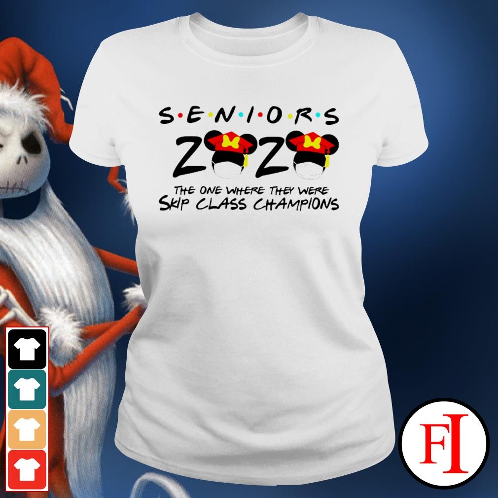 Seniors 2020 the one where they were skip class champions Minnie Mouse Ladies tee