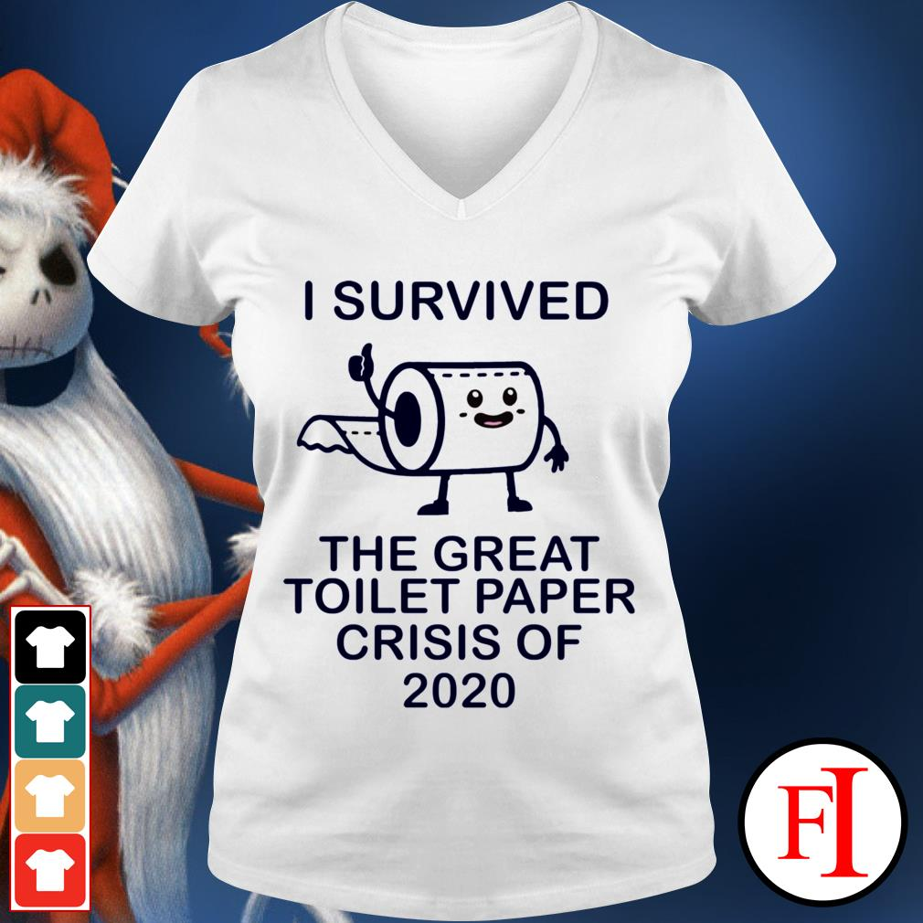 I survived the great toilet paper crisis of 2020 White IF V-neck t-shirt
