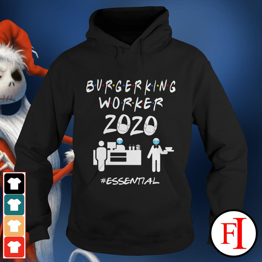 2020 essential Burger King worker black Hoodie
