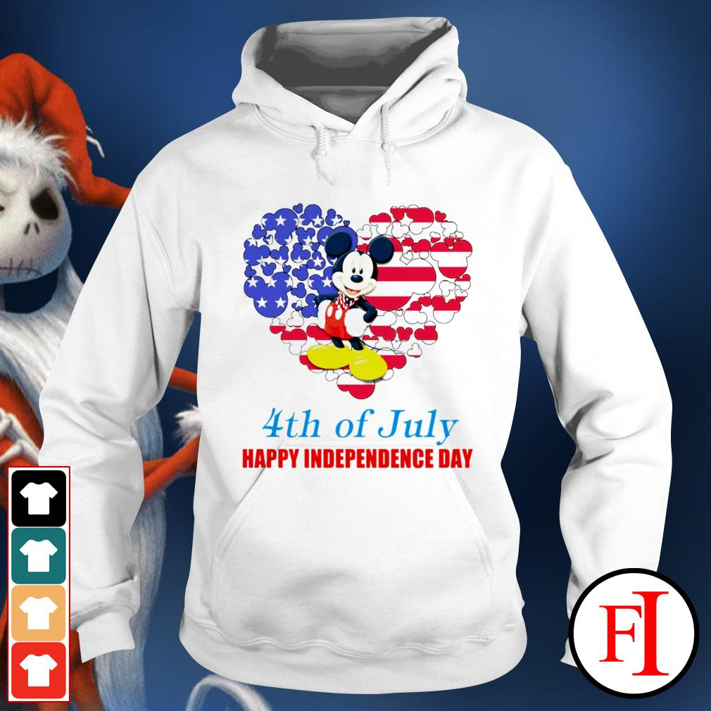 4th of July Happy Independence day Mickey mouse white Hoodie