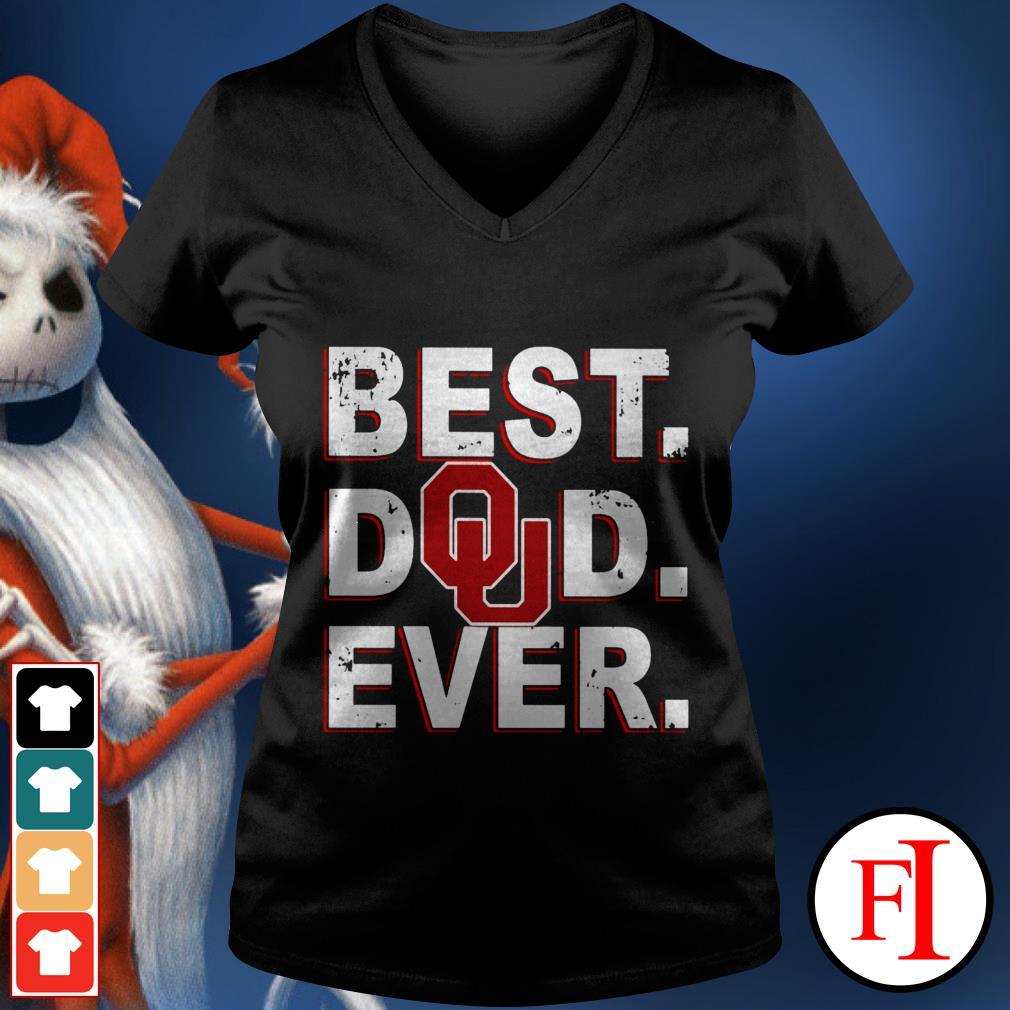 Best Dad ever Oklahoma Sooners V-neck t-shirt